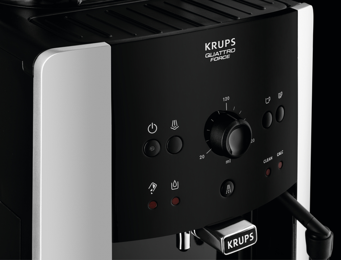 Krups EA8108 CAFETERAS Plastic Negro 1450 W F0540010 Kit descalcificaci/ón Acero Inoxidable 1 Cups