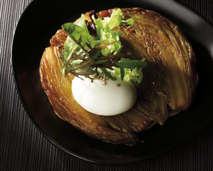 Braised Endive Tatin with Coffee & Orange Zest